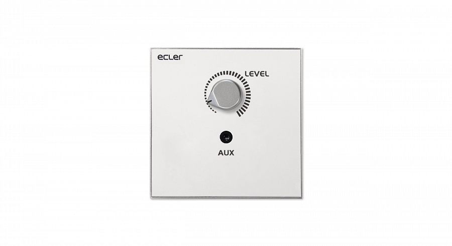 Ecler_WPaVOL-J_Remote_Wall_Panel_Control_Front