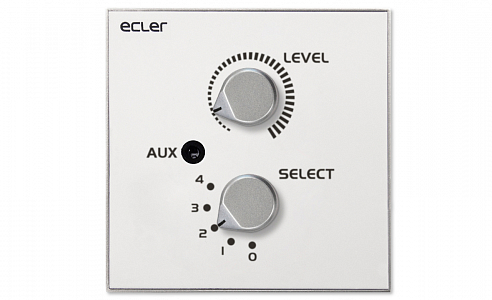 Ecler_WPaVOL-SR-J_Remote_Wall_Panel_Control_Front