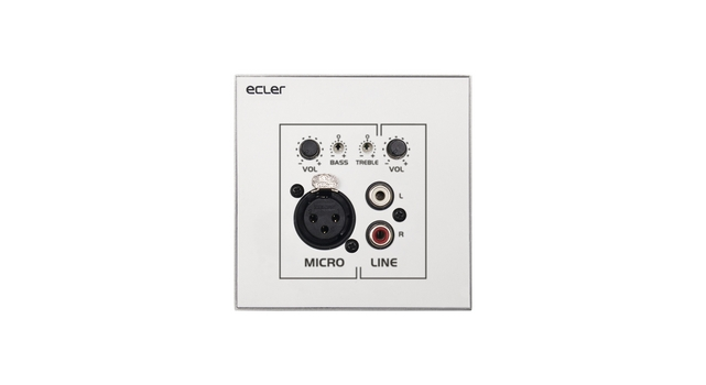 Ecler WPaMIX-T Wall Panel Micro-mixer Front lr